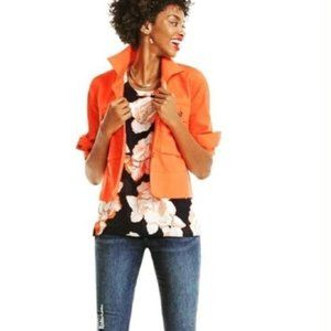 Cabi Blossom top Floral  tiered cap sleeve…
